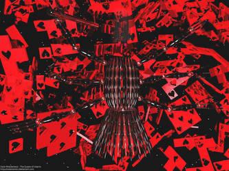 Dark Wonderland - Queen Hearts by calamarain