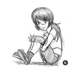 Ellie Sketch by Jax-81