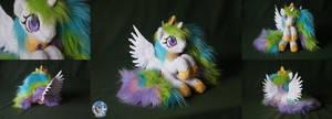 Tiny but fluffy princess Celestia by Essorille