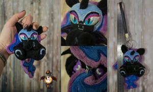 Nightmare moon keychain trinket for sale by Essorille