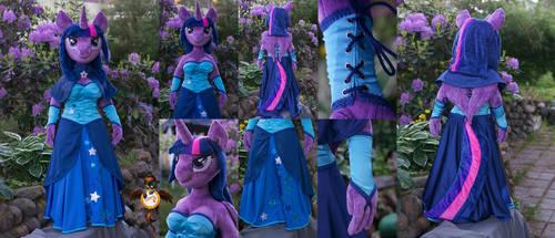 Lifesize anthro Twilight Sparkle plushie by Essorille