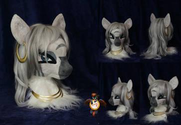 Nightmarenight Zecora fursuit head by Essorille