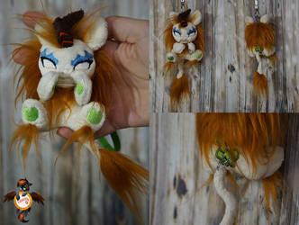 Autumn Blaze angry kirin keychain trinket by Essorille