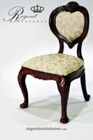 1:6 Heart Back Arm Chair by regentminiatures