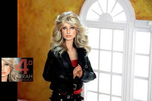 Farrah Fawcett in a Regent Miniatures Room Box by regentminiatures
