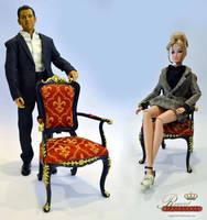 1:6 scale Arm Chair by Regent Miniatures by regentminiatures
