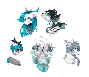 lots of blues and horns (OC Payment) by Alissa1010