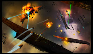 .:Space_fight:. by David-Holland