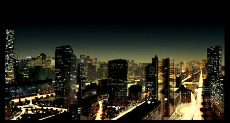 .:City_night:. by David-Holland