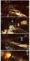 Generic Sci-Fi Hallway by David-Holland