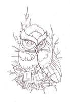 tattoo design owl by reklawpeels