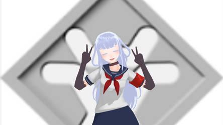 Megami Saikou's cute pose by elsaprime