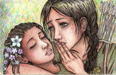 8. Innocence- Katniss and Rue by commoner-pocky