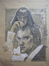 PULP FICTION  QUENTIN AND MIA by JEMIO