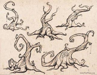 Twisty Trees! by Vert-Vixen