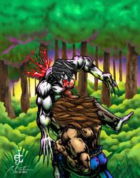 Greytok defeats Bison by EJT-Studios
