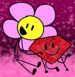 ruby x flower by BlueLight439