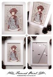 Framed Print . ADELA by lely