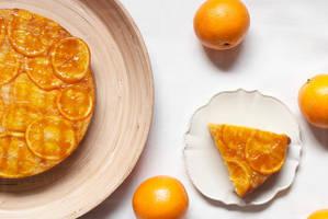 Orange Upside Down Sugee Cake by munchinees