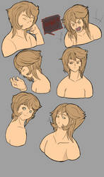 Random sketch #3 Anri's emotions by Eclipse-Being