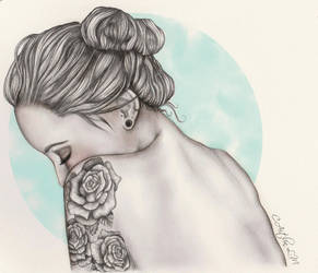 Girls with tattoos by icakeyyy