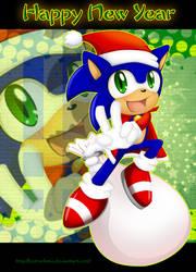 Chibi Sonic:Happy New Year by Extra-Fenix