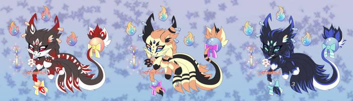 Adopts chao SemiKhvostik spirit kitsune  CLOSED by Extra-Fenix