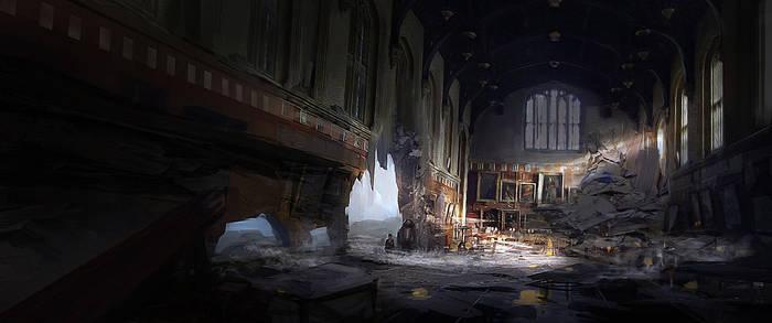 Hogwarts Destroyed by EduardoBorrego