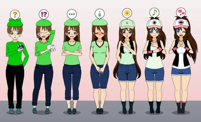 Pokemon Gray: Hilda TF TG Sequence REMAKE by Nitro-The-Flygon