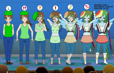 Rockin' Cool! Rainbow Dash EG TF TG Sequence by Nitro-The-Flygon