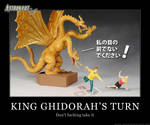 Astronaut Cafe vs Godzilla - King Ghidora's Turn by elasticdragon