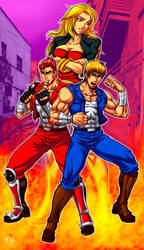 Double Dragon Arcade Concept by Patylegs