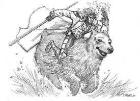 GAMBIT RIDES BEAR. by aaronminier