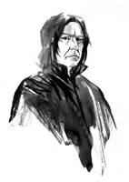 Alan Rickman - Severus Snape by aaronminier