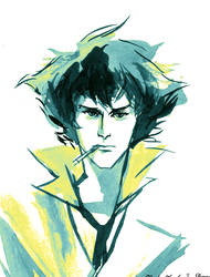 Spike Spiegel sketch by aaronminier