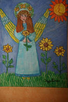 Angel of sunflowers by ingeline-art