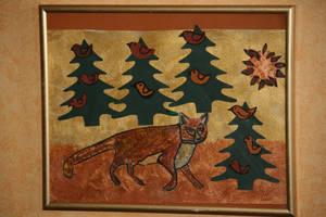 Fox on the run by ingeline-art