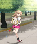 Road to School - Looks can be Deceiving by Kari-Usagi