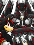 Shadow n Anubis:Black Fighters by maruringo