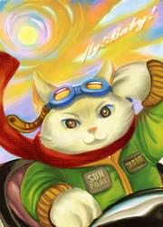 my cat Jojo by shinjyu
