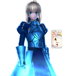 Saber (Fate Series) Render by DeathToTotoro