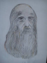 Leonardo Da Vinci... (my attempt at least) by DNAiel333