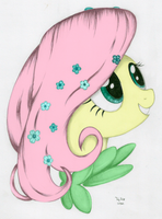Fluttershy at the Gala - Coloured by Codaulux