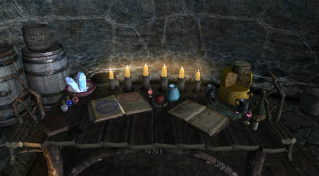 Skyrim Still Life Studying by Evil-is-Relative