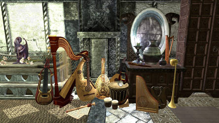 Skyrim Still Life Bards College by Evil-is-Relative
