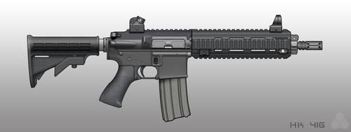 HK 416 by pabumus