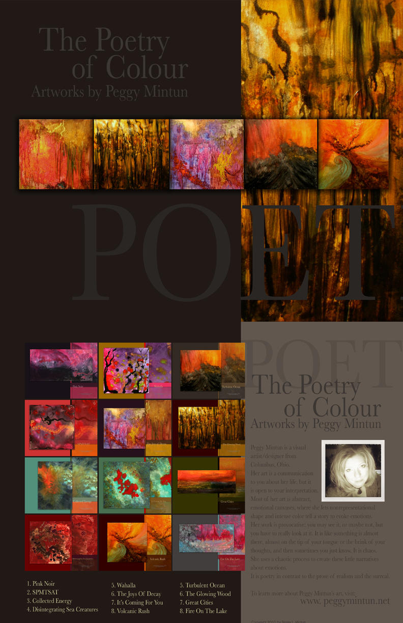 The Poetry of Colour Calendar by peggymintun