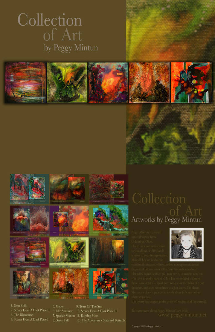 Collection Of Art Calendar by peggymintun