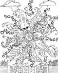 Lizard Mandala 1 by peggymintun