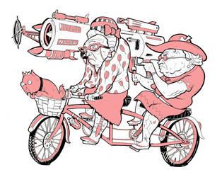Tandem bike by NickSirotich